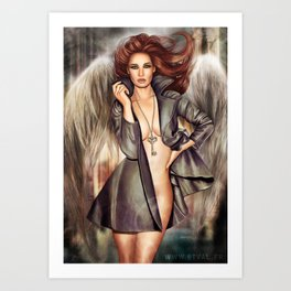 Angel with the key to the bottomless pit Art Print