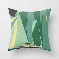 alaska Throw Pillows featuring Alaska by Lost & Found