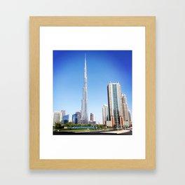 Dubai Burj Khalifa Framed Art Print