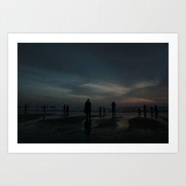 Ghost Beach Art Print