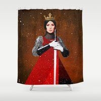 queen Shower Curtains featuring Queen by Ed Pires