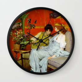 Confidences 1869 by Sir Lawrence Alma Tadema | Reproduction Wall Clock