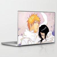 bleach Laptop & iPad Skins featuring Bleach: Ichigo X Rukia by Neo Crystal Tokyo