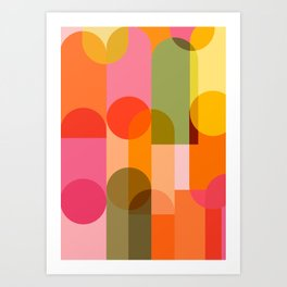 Ping Pong - brights Art Print