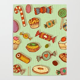 candy and pastries Poster