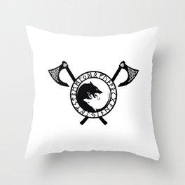Norse Axe - Fenrir Throw Pillow