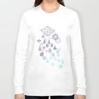 crystals Long Sleeve T-shirts featuring crystals by Sil-la Lopez