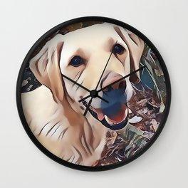 Yellow Labrador Retriever Wall Clock