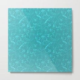 Blue Elegant Pattern Metal Print