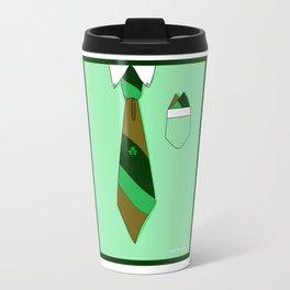 White Collar, Green Tone Tie, Clover (Formal but Not Formal Series) Travel Mug