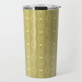 Golden Gossamer Web Digital Art Travel Mug