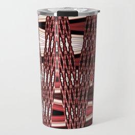 Beaded past-time -red Travel Mug