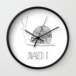 snailed it Wall Clock