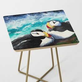 Puffins - Always together - by LiliFlore Side Table
