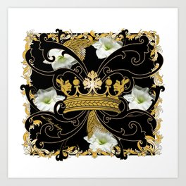 My Empire Collection Summer Set White Flowers Crown Art Print