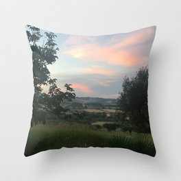 Sunset in Southern Italy Throw Pillow