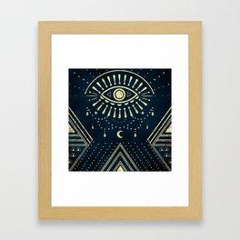 Eye Midnight Gold Framed Art Print