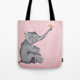 A Little Birdie Told Me - Elephant and Bird Tote Bag