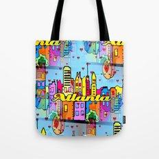 Atlanta Popart by Nico Bielow Tote Bag