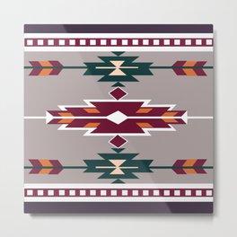 American Native Pattern No. 123 Metal Print