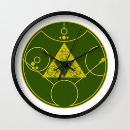 Hylian Gallifreyan Crest Wall Clock