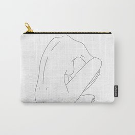 Nude figure line drawing illustration - Ellena Carry-All Pouch