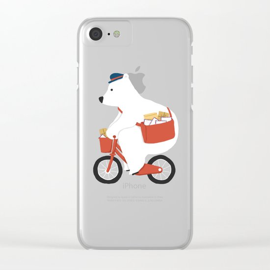 Polar bear postal express Clear iPhone Case