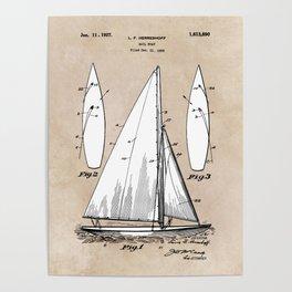 patent art Herreshoff  Sail Boat 1925 Poster