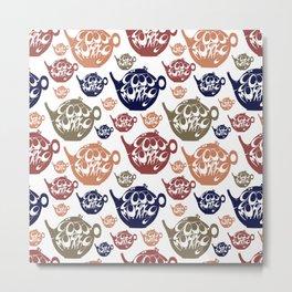 Good morning! Wake up pattern. Metal Print
