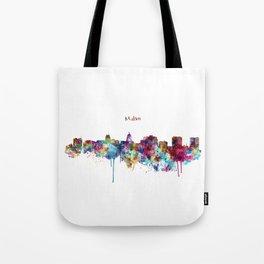 Madison Skyline Silhouette Tote Bag