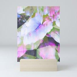 Lush Foliage Glitch - Green and Pink Mini Art Print
