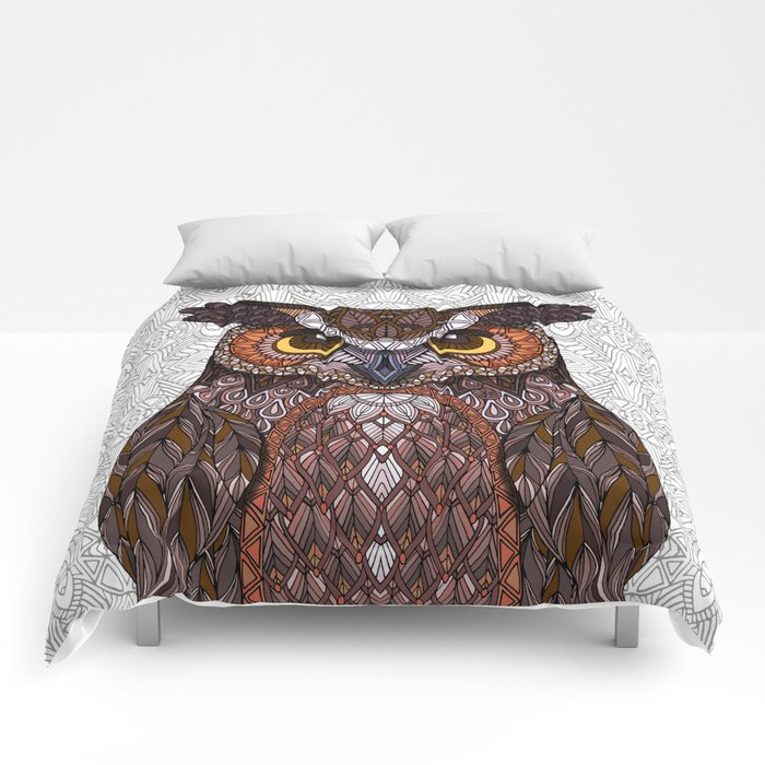 Great Horned Owl 2016 Comforters