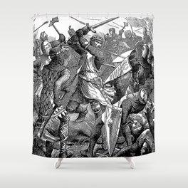 The Battle of Evesham: De Montfort's Last Stand Shower Curtain