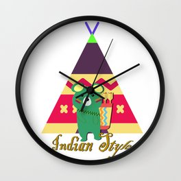 bear indian Wall Clock