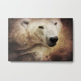 The polar bear Metal Print