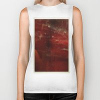 outer space Biker Tanks featuring Outer Space by Liv Bird