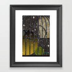 Owl in a Birdcage Framed Art Print