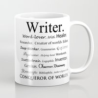 writer Mugs featuring Writer by Rebekah Joan