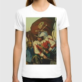 """""""Stand and Deliver"""" Pirate Art by NC Wyeth T-shirt"""