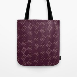 Burgundy checkered pattern Tote Bag