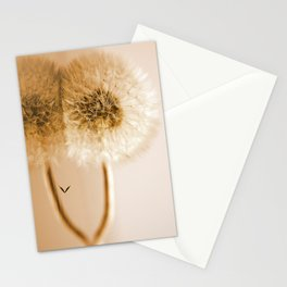 Dandelions on the macro level Stationery Cards