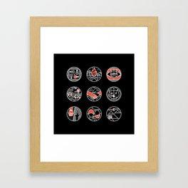 blurry icons II Framed Art Print