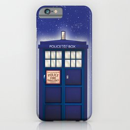 vintage police box starfield iPhone Case