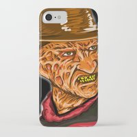 freddy krueger iPhone & iPod Cases featuring Freddy Krueger by Art of Fernie
