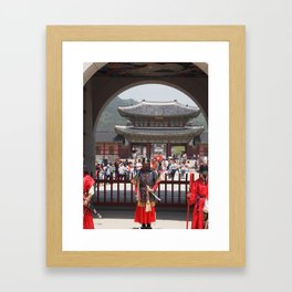Guards at Gyeongbokgung Framed Art Print