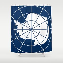 Flag of Antarctica Shower Curtain