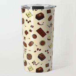Chocolate Truffles Bonbons and Candy Pattern Travel Mug