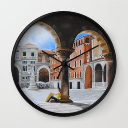 PIAZZA DANTE VERONA Wall Clock