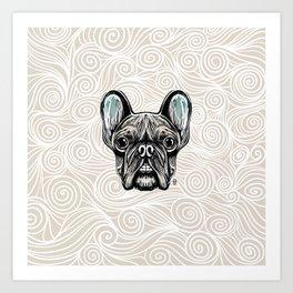 French Bulldog Smilling Art Print