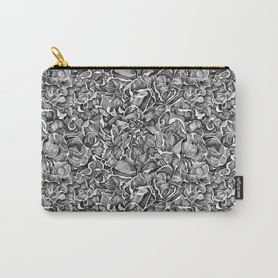 In the Strange Garden   Floral pattern, b/w Carry-All Pouch